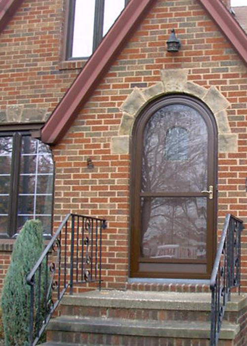 2 Lite Round Top Door - Arch Angle Custom Arched Top Storm Windows & Storm Doors
