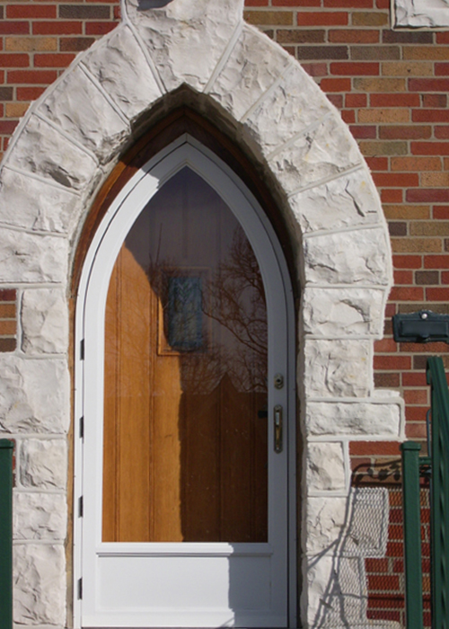 Cathedral Arch Door - Arch Angle Custom Arched Top Storm Windows & Storm Doors