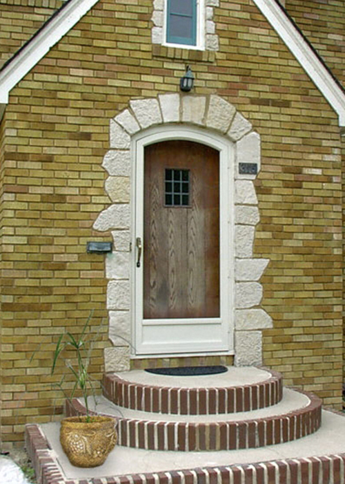 Segmented Arch Door - Arch Angle Custom Arched Top Storm Windows & Storm Doors