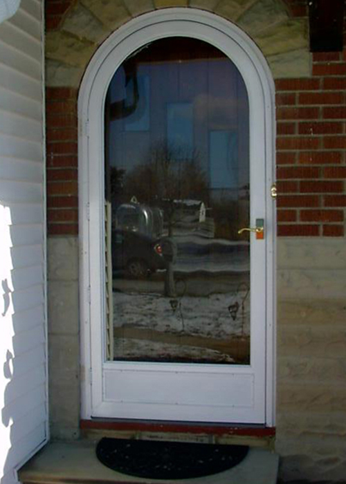 Full View Round Top Door - Arch Angle Custom Arched Top Storm Windows & Storm Doors