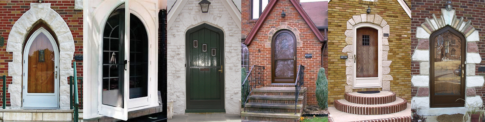 Variety Of Door Shapes - Arch Angle Custom Arched Top Storm Windows & Storm Doors