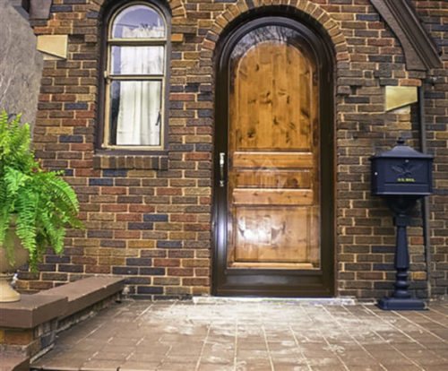 chocolate-round-top-full-view & Custom Arched Top Storm Doors \u0026 Historic Storm Windows by Arch Angle